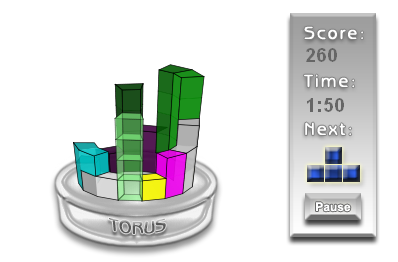 3D tetris game in HTML 5 and JavaScript