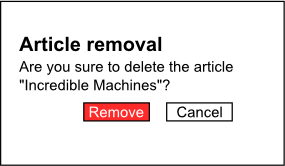Deleting an article